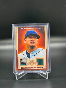 2015 Diamond Kings Portraits Framed Gold #17 Felix Hernandez Dual Patch /10