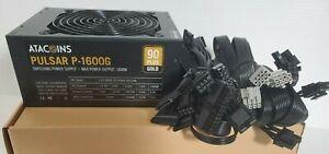 BRAND NEW Atacoins Pulsar 1600w MODULAR Gaming/ Mining Power Supply 90+Gold