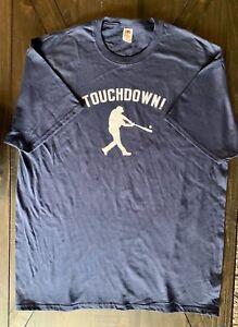 Touchdown baseball player funny T-shirt Men's XL Navy Blue