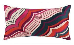 """Trina Turk Malibu Pillow - 14"""" x 24"""" - Pink, Orange, Purple, Blue, Beige"""