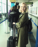 Topshop Green Oversized Travel Trench Slouch Versatile Mac Jacket Coat 4 to 16
