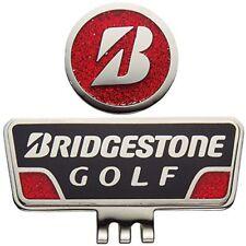 BRIDGESTONE Golf Ball Marker Cap Marker for Right Handed Black Red GAG401