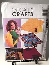 McCalls Crafts Sewing Pattern Fleece Blanket With Carrier