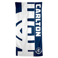 Carlton Blues AFL Printed 75cm x 150cm Cotton Velour Beach Towel New