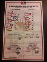 James Loney San Diego Padres Autographed Signed Official Game Used Lineup Card