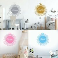 Wall Sticker Personalised Name Girls Princess Boys Prince Vinyl Decal