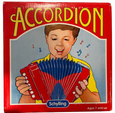 Vintage 1999 Schilling Red Accordion for Kids Ages 7+ Plays Well