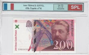 BILLET DE 200 FRANCS EIFFEL 1996 SPL!!!