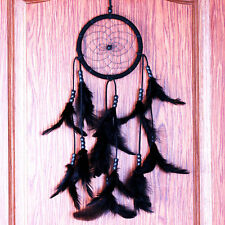 Black Dream Catcher With Feathers Wall Hanging Decor Car Home Ornament Craft