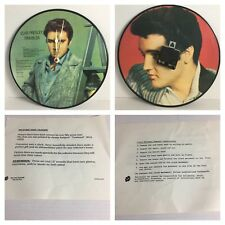 ELVIS PRESLEY TROUBLES PICTURE DISCS CLOCK LIMITED EDITION REVERSIBLE