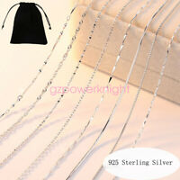 925 STERLING SILVER CHAIN NECKLACE CURB BELCHER ROPE JEWELLERY GIFT 16 18 INCH