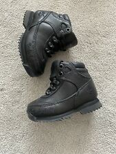 New listing Baby Boys Infant Size EU21 4.5 Black Leather Timberland Hiking Boots Shoes New