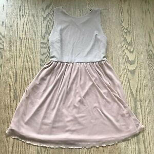 ATMOSPHERE WOMENS ROSE GOLD PINK GLITTER FLOATY LAYERED DRESS SIZE 18