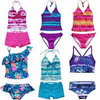 Toddler Girls Tankini Set Swimsuit Kids 2pcs Bathing Suit Tops+Bottoms Swimwear