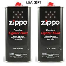 Zippo 12 fl.oz (355ml) Fluid Fuel Value Pack 2 X CAN Combo Set NEW
