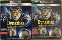 NEW BBC EARTH DYNASTIES THE GREATEST OF THEIR KIND 4K ULTRA HD BLU RAY SLIPCOVER
