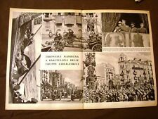 Stampa 1939 Seconda guerra mondiale WW2 Barcellona + Bucci + Caserta Capodimonte