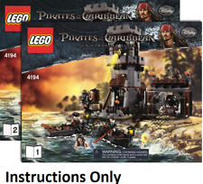 NEW INSTRUCTIONS ONLY LEGO WHITECAP BAY 4194 Pirates POTC from set
