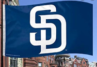 Wincraft MLB Factory Sealed San Diego Padres 3'x5' Vibrant Horizontal Team Flag