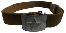 RUSSIAN UNIFORM BELT CCCP Iron Buckle COTTON WEBBING Authentic Adjustable XS-XL