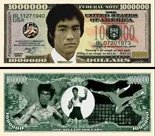 Bruce Lee Million Dollar Bill Collectible Fake Play Funny Money Novelty Note