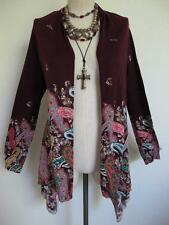 Anthropologie Sparrow Azimuth Paisley Cotton Draped Cardigan Sweater M Open