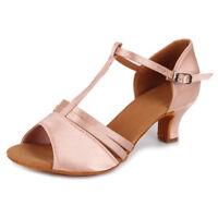 Women Dance Shoes Girl's lady's Ballroom Latin Tango heeled Salsa Dancing shoes