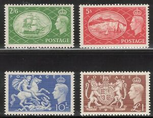 GB 1951 2/6-£1 George VI; Scott 286-89, SG 509-12; MNH