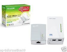 nuovi POWERLINE TP-LINK TL-WPA4220KIT AV500 Mbps WiFi Extender Kit WIRELESS