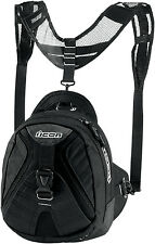 NEW ICON PRIMER MAGNETIC MOTORCYCLE TANK BAG BLACK FREE SHIPPING SAVE $$$