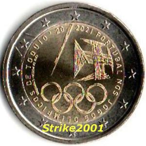 NEW !!! 2 EURO COMMEMORATIVO PORTOGALLO 2021 Giochi Olimpici Tokyo NEW !!!