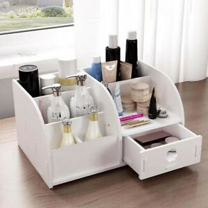 Cosmetic Make Up Makeup Drawer Pen Desk Tidy Storage Box Wooden Organiser Holder
