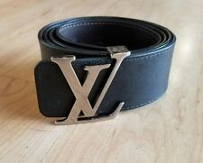 Louis Vuitton LV Initiales 40mm Ruthenium Reversible Black Brown Men's Belt