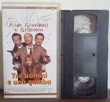 VHS FILM Ita Comico ALDO GIOVANNI & GIACOMO Tre Uomini e Una Gamba no dvd(VHS10)
