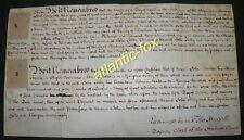 1769 RYTON Durham Vellum Manorial Court Surrender of Land, Part of WESTFIELD