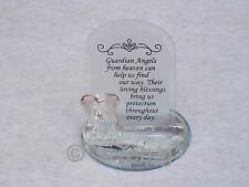 GUARDIAN ANGEL@Glass@RELIGIOUS Verse Gift Set@Mirror Base@WHITE Prayer Blessing
