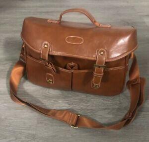Vintage Leather Canvas Camera Bag