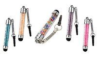 5 x CRYSTAL DIAMOND BLING STYLUS PEN FOR IPHONE IPAD TABLET SAMSUNG HTC ETC