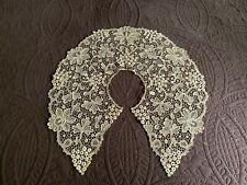 Beautiful Large Off White Antique Schiffli Lace Bertha Collar