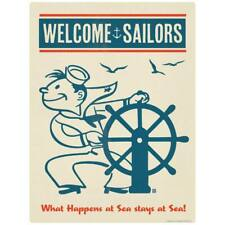 Welcome Sailors Nautical Navy Decal Peel and Stick Decor