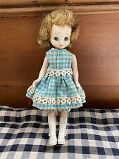 "Vintage American Character 8"" Auburn/Blonde Betsy Mccall Gingham Dress"