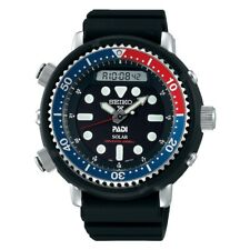 New Seiko SNJ027 Prospex Analog Digital 48mm Solar Dive Padi Watch