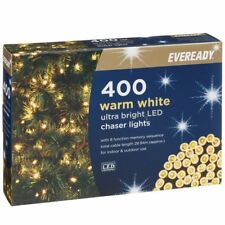 400 Warm White Xmas summer LIGHTS MAINS 240v in outdoor garden LED fairy string
