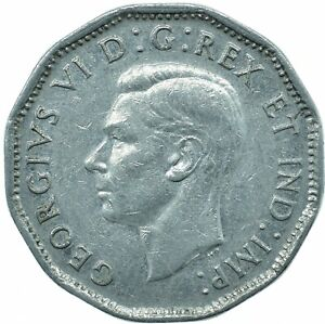 COIN / CANADA / 5 CENT 1946 / KING GEORGE VI.  #WT24379