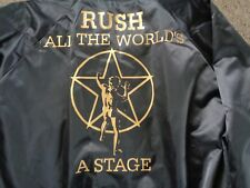 RUSH ALL THE WORLDS A STAGE ORIGINAL US TOUR JACKET XL