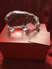 MIB FLAWLESS Exceptional BACCARAT Large Crystal HIPPOPOTAMUS Sculpture Figurine