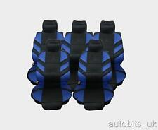 FULL SET 5X BLUE SEAT COVERS CUSHION 5 SEATER CITROEN C8 XSARA PICASSO BERLINGO