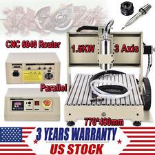 3 Axis CNC6040 Router Engraver Kit Ballscrew PCB Wood Carving Engraving Machine