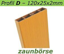 "Musterstück - Kunststoffbretter D (120x25x2mm) ""oregon"" Profiware -Sichtschutz"