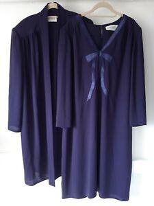 Oliver James Purple Jacket & Dress Set Size 18-20 Occasion Mother Of The Bride